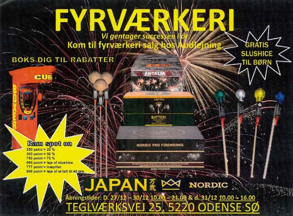 Fyrværkeri fra JAPAN og NORDIC